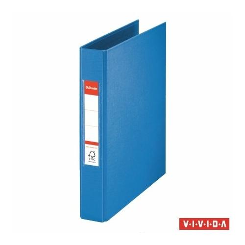 """Gyűrűs könyv, 2 gyűrű, 42 mm, A5, PP, ESSELTE """"Standard"""", Vivida kék"""