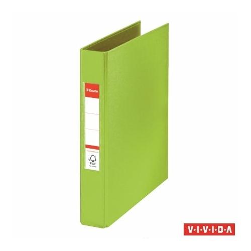 """Gyűrűs könyv, 2 gyűrű, 42 mm, A5, PP, ESSELTE """"Standard"""", Vivida zöld"""
