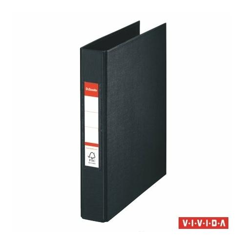 """Gyűrűs könyv, 2 gyűrű, 42 mm, A5, PP, ESSELTE """"Standard"""", Vivida fekete"""