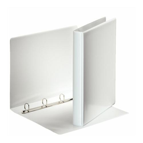 Gyűrűs könyv, panorámás, 4 gyűrű, D alakú, 35 mm, A4, PP, ESSELTE, fehér