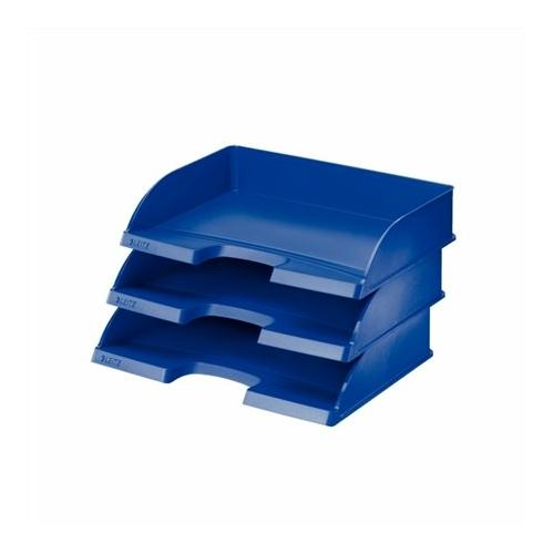 """Irattálca, műanyag, oldalt nyitott, LEITZ """"Plus"""", kék"""