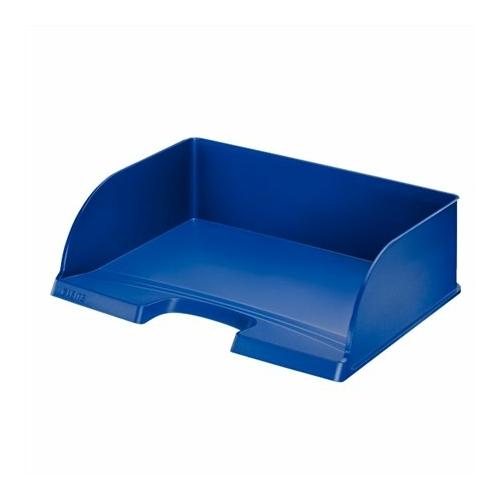 """Irattálca, műanyag, oldalt nyitott, LEITZ """"Plus Jumbo"""", kék"""
