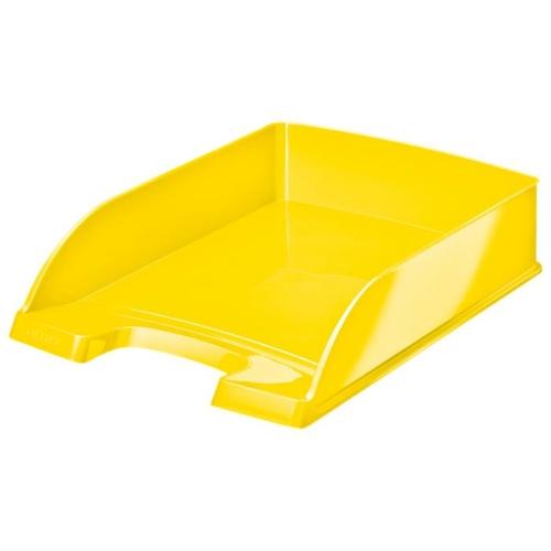 """Irattálca, műanyag, LEITZ """"Wow"""", sárga"""