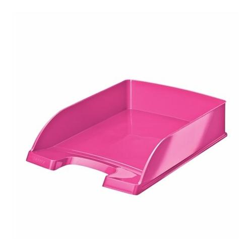 """Irattálca, műanyag, LEITZ """"Wow"""", rózsaszín"""