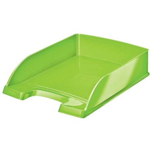 """Irattálca, műanyag, LEITZ """"Wow"""", zöld"""