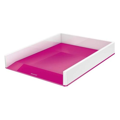"""Irattálca, műanyag, kettős színhatású, LEITZ """"Wow"""", rózsaszín"""