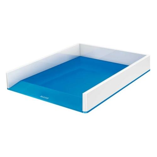 """Irattálca, műanyag, kettős színhatású, LEITZ """"Wow"""", kék"""