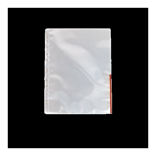 Genotherm, lefűzhető, felül/oldalt félig nyitott, A4, 105 mikron, víztiszta, ESSELTE, piros