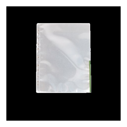 Genotherm, lefűzhető, felül/oldalt félig nyitott, A4, 105 mikron, víztiszta, ESSELTE, zöld