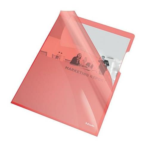 """Genotherm, """"L"""", A4, 150 mikron, víztiszta felület, ESSELTE """"Luxus"""", piros"""