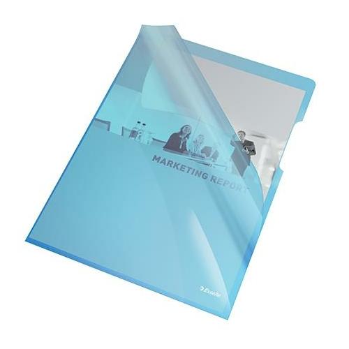 """Genotherm, """"L"""", A4, 150 mikron, víztiszta felület, ESSELTE """"Luxus"""", kék"""