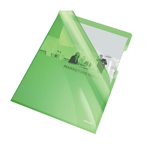 """Genotherm, """"L"""", A4, 150 mikron, víztiszta felület, ESSELTE """"Luxus"""", zöld"""