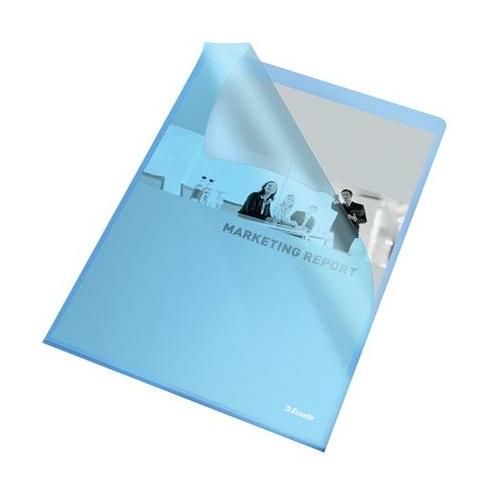 """Genotherm, """"L"""", A4, 105 mikron, narancsos felület, ESSELTE """"Standard"""", kék"""