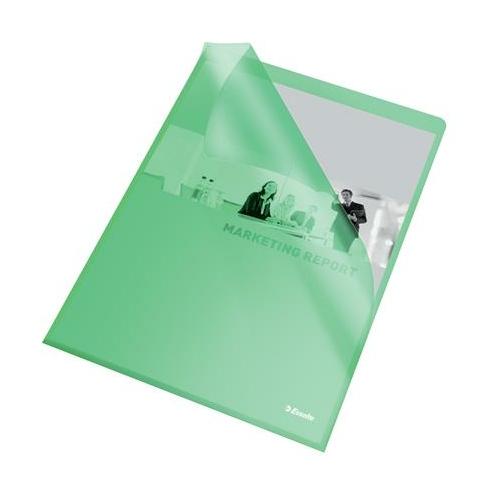 """Genotherm, """"L"""", A4, 105 mikron, narancsos felület, ESSELTE """"Standard"""", zöld"""