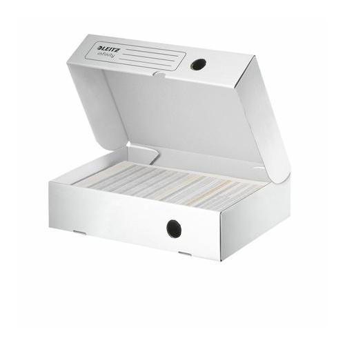 """Archiváló doboz, A4, 80 mm, felfelé nyíló, LEITZ """"Infinity"""", fehér"""