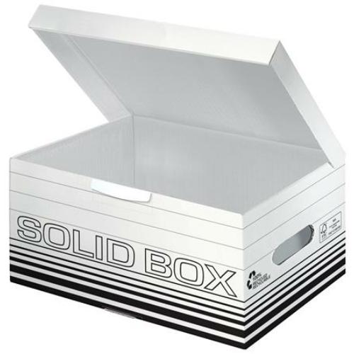 """Archiváló doboz, S méret, LEITZ """"Solid"""", fehér"""