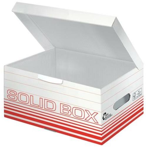 """Archiváló doboz, S méret, LEITZ """"Solid"""", világos piros"""