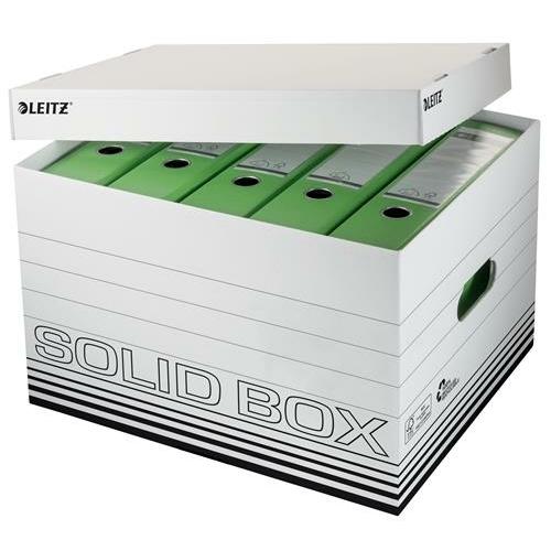"""Archiváló doboz, L méret, LEITZ """"Solid"""", fehér"""