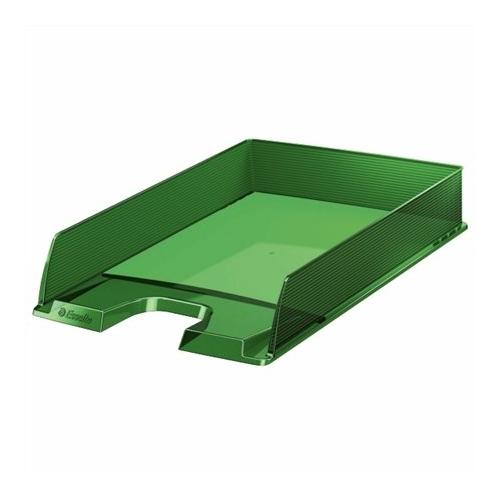 """Irattálca, műanyag, ESSELTE """"Europost"""", áttetsző zöld"""