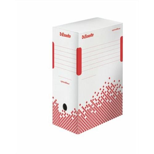 """Archiváló doboz, A4, 150 mm, újrahasznosított karton, ESSELTE """"Speedbox"""", fehér"""
