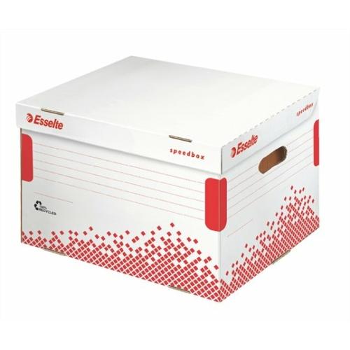 """Archiváló konténer, újrahasznosított karton, felfelé nyíló, ESSELTE """"Speedbox"""", fehér"""