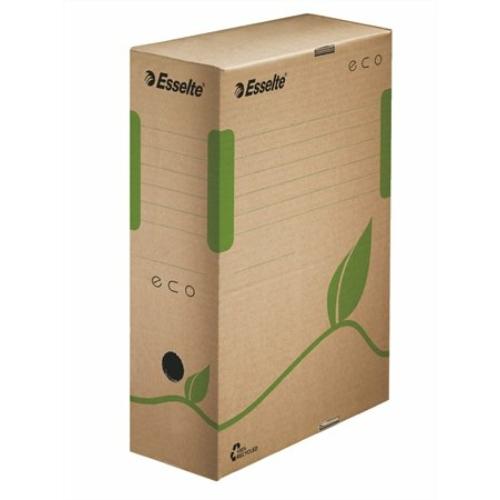 """Archiváló doboz, A4, 100 mm, újrahasznosított karton, ESSELTE """"Eco"""", barna"""