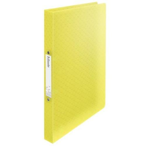 """Gyűrűs könyv, 2 gyűrű, 25 mm, A4, PP, ESSELTE """"Colour`Ice"""", sárga"""