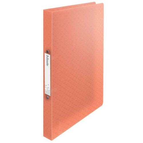 "Gyűrűs könyv, 2 gyűrű, 25 mm, A4, PP, ESSELTE ""Colour`Ice"", barack"