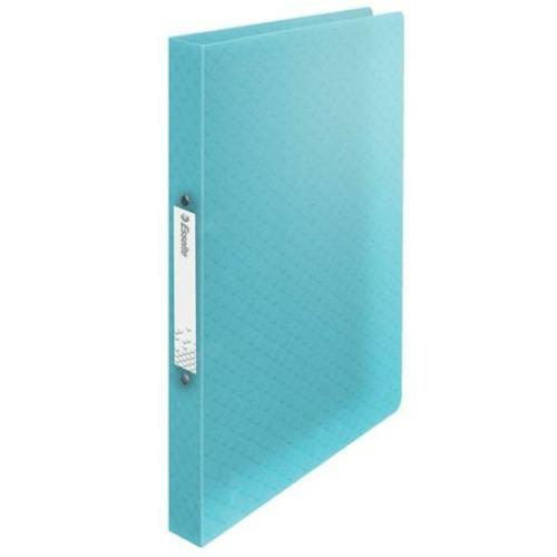 """Gyűrűs könyv, 2 gyűrű, 25 mm, A4, PP, ESSELTE """"Colour`Ice"""", kék"""