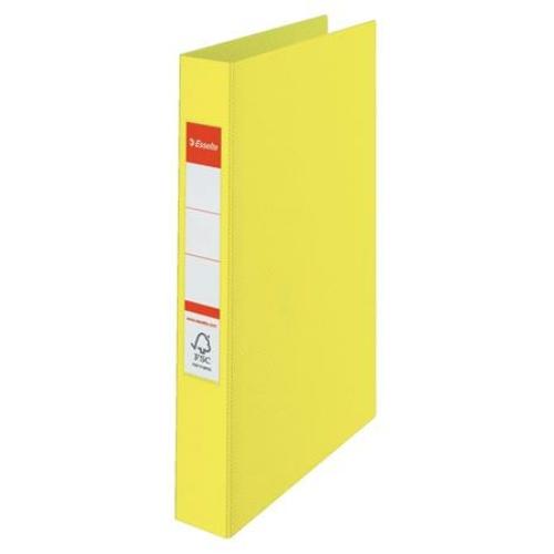 """Gyűrűs könyv, 2 gyűrű, 42 mm, A4, PP, ESSELTE """"Colour`Ice"""", sárga"""