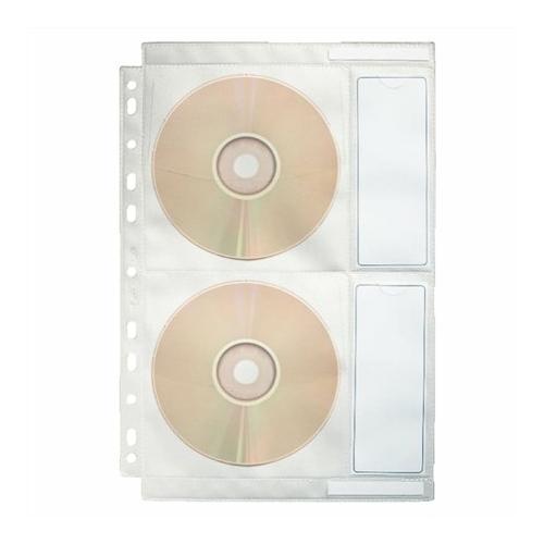 Genotherm, lefűzhető, A4, PP/textil, 200 mikron, víztiszta felület, CD/DVD tartó, ESSELTE