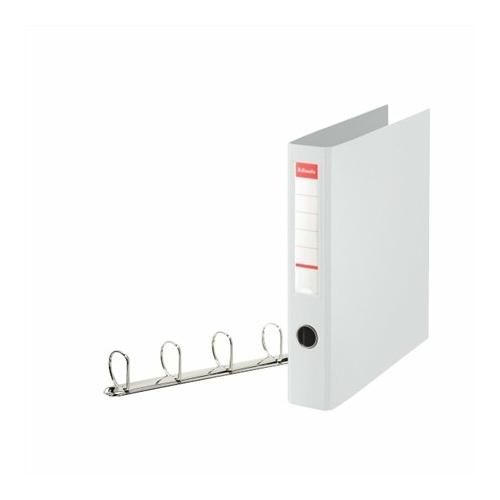 """Gyűrűs könyv, 4 gyűrű, D alakú, 60 mm, A4 maxi, PP, ESSELTE """"Jumbo Vivida"""", fehér"""