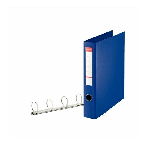 """Gyűrűs könyv, 4 gyűrű, D alakú, 60 mm, A4 maxi, PP, ESSELTE """"Jumbo Vivida"""", kék"""