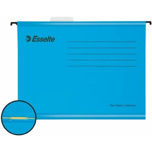 """Függőmappa, gyorsfűzős, újrahasznosított, karton, A4, ESSELTE """"Classic"""", kék"""