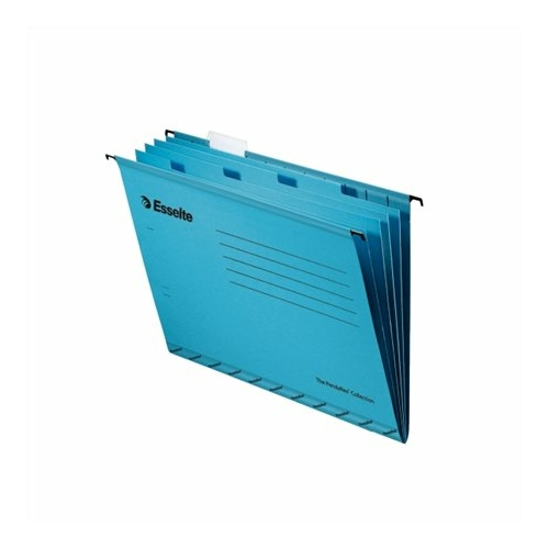 """Függőmappa, újrahasznosított karton, A4, elválasztólapokkal, ESSELTE """"Classic"""", kék"""