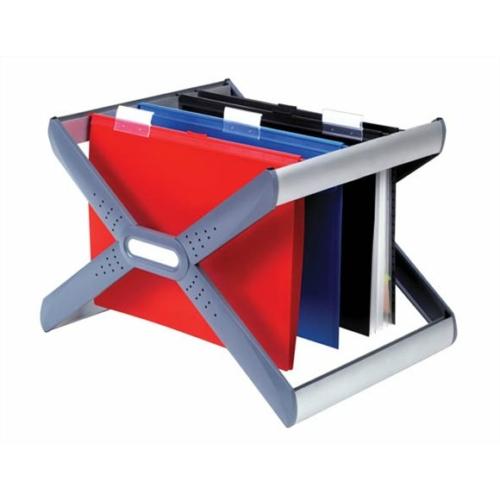 """Függőmappa tároló, műanyag, REXEL """"Crystalfile Extra Organisa Frame"""""""