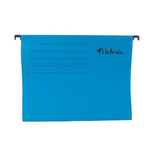 Függőmappa, karton, A4, VICTORIA, kék
