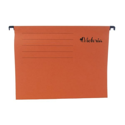 Függőmappa, karton, A4, VICTORIA, narancs