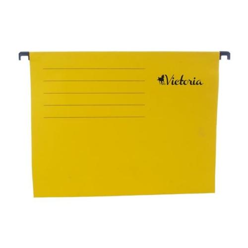Függőmappa, karton, A4, VICTORIA, sárga