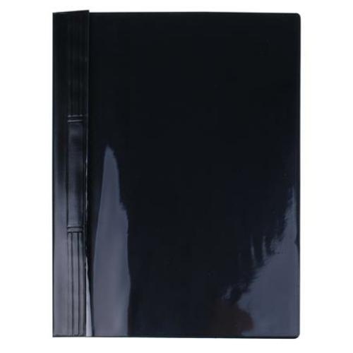 Gyorsfűző, kemény hátlappal, PVC, A4, VICTORIA, fekete