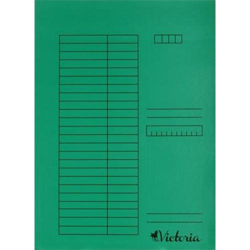 Gyorsfűző, karton, A4, VICTORIA, zöld