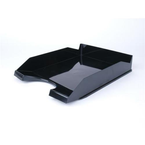 Irattálca, műanyag, VICTORIA, fekete