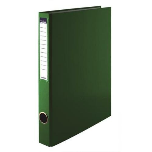 Gyűrűs könyv, 2 gyűrű, 35 mm, A4, PP/karton, VICTORIA, zöld