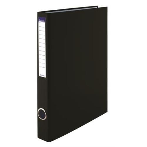 Gyűrűs könyv, 2 gyűrű, 35 mm, A4, PP/karton, VICTORIA, fekete