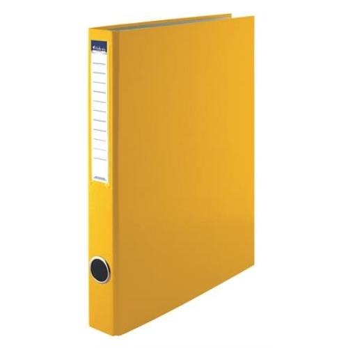 Gyűrűs könyv, 4 gyűrű, 35 mm, A4, PP/karton, VICTORIA, sárga