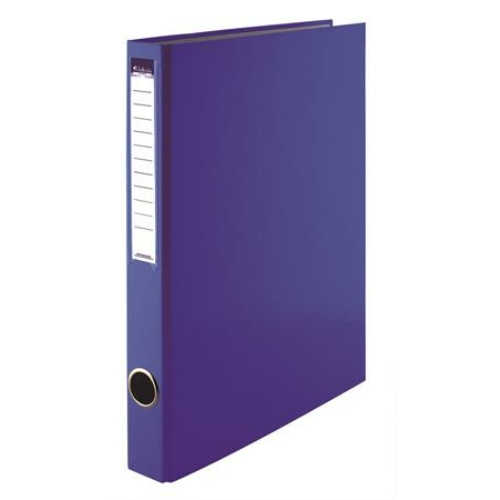 Gyűrűs könyv, 4 gyűrű, 35 mm, A4, PP/karton, VICTORIA, kék