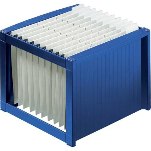 Függőmappa tároló, műanyag, HELIT, kék