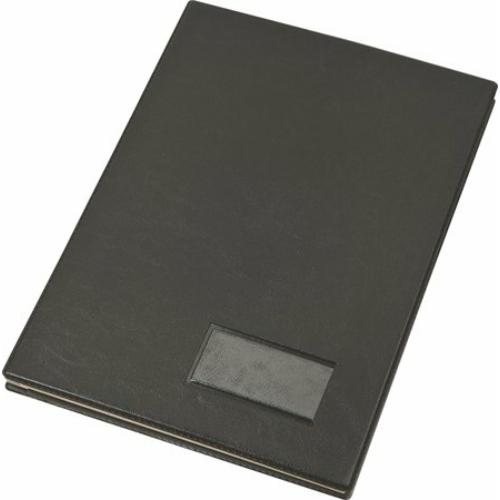 Aláírókönyv, A4, 20 részes, karton, műbőr hatású borító, VICTORIA, fekete