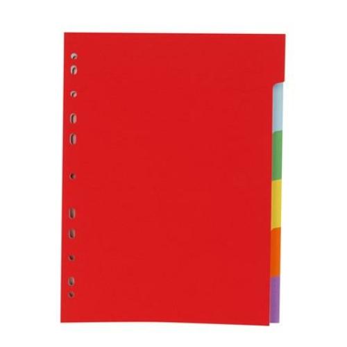 Regiszter, karton, A4, 6 részes, VICTORIA, színes