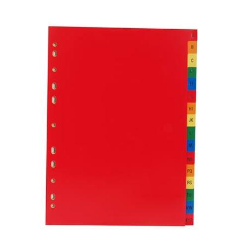 Regiszter, műanyag, A4, A-Z, VICTORIA, színes